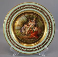 7-Antique-Royal-Vienna-Greek-Roman-Mythology-Artist-Signed-Porcelain-Plates