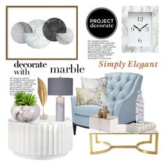 """""""Classic Elegance: Marble Home"""" by hastypudding ❤ liked on Polyvore featuring interior, interiors, interior design, home, home decor, interior decorating, Art Addiction, Basset Mirror Company, Chaney and Bernhardt"""
