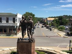 Rear viewTom and Huck statue in Downtown Hannibal, Missouri, Weekend Getaway. Itinerary Planner, Route Planner, Manhattan Times Square, Lower Manhattan, Hannibal History, Hannibal Mo, Canada Day Fireworks, Hannibal Missouri, Nepal Mount Everest