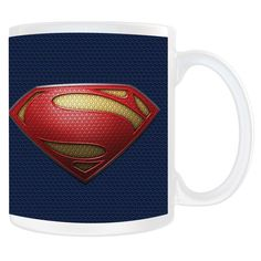 Lifted from Superman's uniform this mug features the Man of Steel shield logo. This white ceramic mug holds 11 ounces…