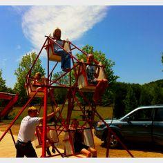 Ferris wheel my hubby built!