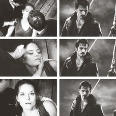 Captain Swan - You can see the relief in Hook's face when he sees that Emma is okay :)