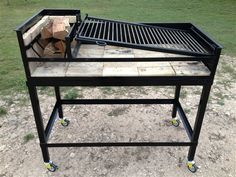 Large Uruguayan Grill or Parrilla for home use. This grill designed to cook grilled meats or asado, over red hot wood coals. Great find! www.norcalovenworks.com Check them out!