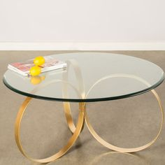 Statements by J Sienna Coffee Table Base Finish: Gold Coffee Table Joss And Main, Coffee Table Base, Brass Coffee Table, Modern Coffee Tables, Coffee Table Overstock, Coffee Table Wayfair, Table Furniture, Cool Furniture, Furniture Design
