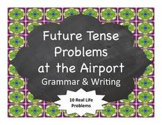 Students read, in Spanish, about some problems that come up when they are at the airport and tell what they will do using the future tense
