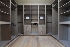 Brilliant Luxurious Home in Modern Interior Design: Fabulous Laurel Walk In Closet Design With Grey Painted Cabinets And Shelves To Keep Fas. Walk In Closet Design, Bedroom Closet Design, Master Bedroom Closet, Closet Designs, Custom Closet Design, Bathroom Closet, Custom Closets, Custom Design, Walking Closet
