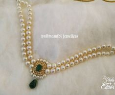 Light Weight Gold and Pearl Necklace from Pulimamidi Jewellers. Weight: Approx 6 grams Price: Approx For price and purchase enquiries please contact Gold Jewellery Design, Bead Jewellery, Gold Jewelry, Beaded Jewelry, Pearl Jewelry, Pearl Necklace Designs, Gold Pearl Necklace, Pearl Necklaces, Silver Earrings
