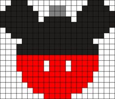 Mickey Ornament Perler Bead Pattern / Bead Sprite