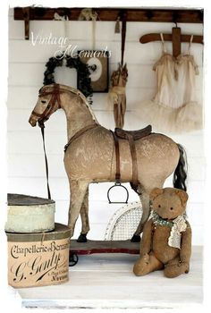 Vintage Horse | Antiques | Shabby Chic | Old Things Rediscovered | Photography #antiquetoys