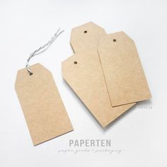Kraft Gift Tags (Large) - Blank Gift Tags - Shipping Tags - Plain Tags - Shipping Label - Thick Kraft Tags - Set of 20 (Item Code: W511)