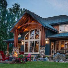 Trendy home rustic exterior design 32 ideas Rustic Houses Exterior, Modern Exterior, Exterior Design, Interior And Exterior, The Sims, Rock Decor, Paint Colors For Home, Trendy Home, Modern House Design