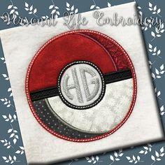 INSPIRED By Pokemon Ball Monogram Frame with BONUS by PersonalLife