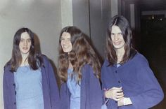 "Charles Manson followers (L-R) Susan Atkins, Patricia Krenwinkel and Leslie Van Houten walk to court to appear for their roles in the cult killings of seven people, including Sharon Tate's, in Los Angeles, California on Aug. 20, 1970. Susan Atkins, Patricia Krenwinkel, Linda Kasabian and Charles ""Tex"" Watson, were present during Tate's horrific murder."