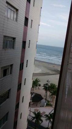 Apartamento em praia grande defronte o mar