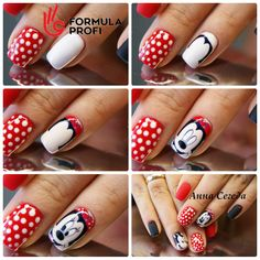 Nails PRO™ МАНИКЮР УРОКИ,МК материалы для ногтей Cartoon Nail Designs, Cute Nail Designs, Holiday Nails, Christmas Nails, Nail Art Dessin, Mickey Nails, Pedicure Nail Art, Short Nails Art, Nail Art Hacks