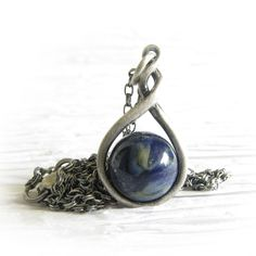 Eternity ~ Glass cremation jewelry sterling silver pendant necklace 16.jpg