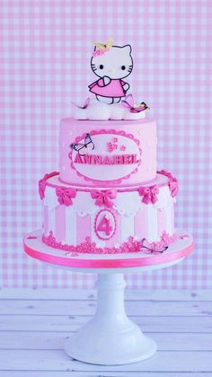Hello Kitty on Cloud Nine - I made this one for my niece's little daughter.