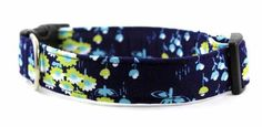 Bow Wow Couture Dog Collar Meadow in blue available at www.ZoePetSupply.com