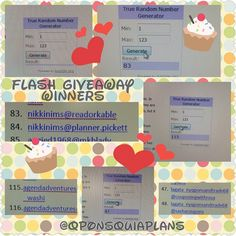 Here are my 3 Flash Giveaway winners.  Please DM your info so that I can mail out your goodies. Thank you to everyone who entered. I will have another giveaway when I reach 2k  #planner #plannerlove #planneraddict #plannerfriends #plannersister #plannershawaii #sharingthealoha4planners #plannercommunity #hawaiiplanneraddicts #hawaiiplanners #kikkik #eclp #colorcrush #happyplanner #filofax #katespade #katespadeplanner #kswellesley #carpediemplanner #giveaway #flashgiveaway #target…