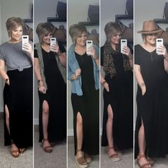 Outstanding boho dresses are offered on our internet site. Have a look and you wont be sorry you did. Black Maxi Skirt Outfit, Maxi Skirt Outfits, Maxi Wrap Dress, Black Tshirt Dress Outfit, Black Maxi Dresses, Summer Outfits, Cute Outfits, Looks Plus Size, Unique Fashion