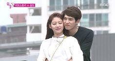 "Lee Jong Hyun and Gong Seung Yeon Reenact Romantic ""Titanic"" Scene on ""We Got Married"" Lee Jong Hyun, Gong Seung Yeon, Jung Hyun, Lee Jung, We Got Married Couples, We Get Married, Jonghyun Seungyeon, My Only Love Song, Couple Moments"