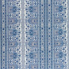 Brunschwig & Fils Digby S Tent Linen & Cotton Print Moroccan Blue Fabric Coral Blue, Blue And White, Moroccan Blue, Moroccan Print, Moroccan Fabric, Pose, Geometric Fabric, Fabric Houses, Pillow Cover Design