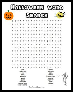 halloween word search spooky fun for a halloween party - Halloween Word Game