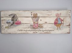 Beatrix Potter Characters - Handpainted Wood Sign on Etsy, $180.00