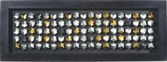 """Das Bild """"Cubes"""" verbreitet ein modernes Flair! Es hat eine Breite von ca. 60 cm, eine Länge von ca. 160 cm und kommt in Schwarz mit silberfarbenen Elementen. Der Rahmen besteht aus Piniennachbildung, das Motiv ist auf Leinwand handbemalt. DasNOVELBild ist ein optischer Hingucker in Ihrem Wohnzimmer!"""