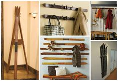 Don't throw away your old skis, they could still have a new life by repurposing them into coat hanger/wall rack. What do you think ? Cool !…