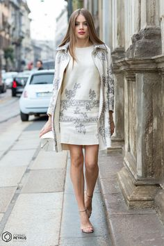 Street Style and Fashion Photography Xenia Tchoumitcheva, Milan, Fashion Photography, Street Style, Sweaters, Collection, Dresses, Style, Vestidos