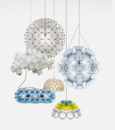 Unusual Lamps Made from Disposable Cups - Lichtschlucker Lamp