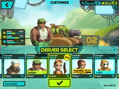 Tank Nation UI - Art & Visual Design Direction by Tavish