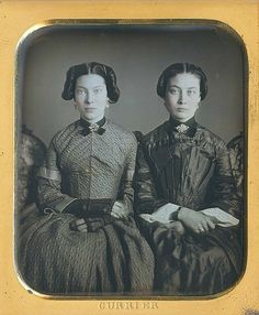 "Two very attractive ladies, Agnes and Adrianna Pillsbury...Ca.1850 (""How dare you approach us without being properly introduced!"")"