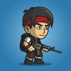 This urban army squad - red headband character sprite is great for side scrolling shooter games (metal slug-like). Buy and sell game assets here. 2d Character, Fantasy Character Design, Character Design Inspiration, Soldier Drawing, Army Drawing, Red Headband, Game Assets, Fantasy Characters, Cool Drawings