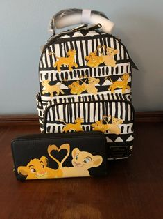Lion King Loungefly Backpack and wallet set Disney Handbags, Disney Purse, Purses And Handbags, Coach Handbags, Cute Mini Backpacks, Kids Backpacks, Disney Jewelry, Disney Merchandise, Cute Purses