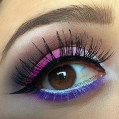 Inspirational photo by Cristina Underwood. 1. Apply #primer all over the #eye 2. Apply #NYX eyeshadow #base in #white on the lid  3. From the #Sugarpill #sweetheart #palette pat on 'Tako' to the inner corner of the #lid and the tear duct 4. Take 'Dollipop' and pat on the outer corner and blend in the middle to give it that #gradient effect  5. Add a neutral #brown color to the crease 6. Apply a black #eyeshadow to the outer corner of the #eye 7. Line the upper lash line with a #black gel…
