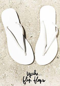 Havaianas white flip flops @ Garance Doré