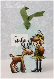 Card by SPARKS DT Karin Akesdotter PS stamp set: Enchanted Elves