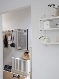 A rare view into the hallway from the kitchen when there weren't boxes coming and going - it's all go this week with deliveries and… Scandi Home, Scandi Style, Scandinavian Style, Living Room Inspiration, Home Decor Inspiration, Small Hallways, Shop Interiors, White Interiors, Living Room White