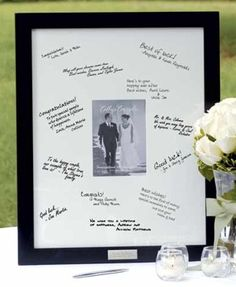 Signature Frame with Engraved Plate - 5x7 Photo image