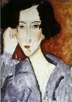 Portrait of Madame Rachele Osterlind, 1919 by Amedeo Modigliani. Expressionism. portrait. Private Collection