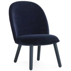Ace Sessel Velour dunkelblau