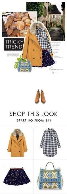 """tricky trend - mixing prints"" by crilovesjapan ❤ liked on Polyvore featuring Dolce&Gabbana and Miista"
