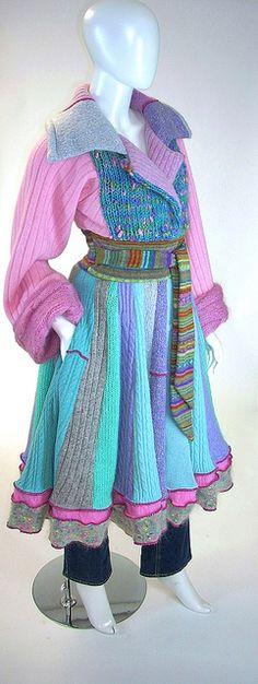 Sweater Coat, Spring Garden Marilyn Coat, Size Small (4-6-8) by brendaabdullah, via Flickr