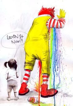 Lora Zombie's Watercolors Inspired By Street Art And Pop Culture Lora Zombie, Arte Zombie, Zombie Art, Protest Kunst, Protest Art, Arte Pop, Banksy, Zombie Kunst, Art Grunge