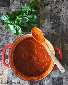 I have to admit, I'm a jarred marinara fan.  There are some really great brands out there, and honestly, who has time to whip up marinara sauce on a weeknight?  But there's definitely something satisfying about making it from scratch, when you have the time.  I love being able to control the ingredients, and know …