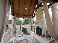 LOVE this outdoor living!    1930 vintage Country French home in the Gillette Historic District !