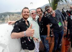 : In May 2012, Michael Fassbender joined friends at the Monaco Formula One Grand Prix.