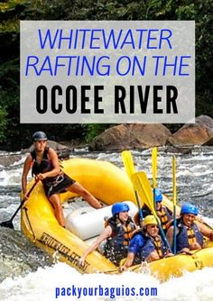 Whitewater Rafting on the Ocoee River | Tennessee travel | canoeing | kayaking